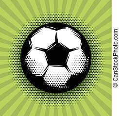 vector background with a soccer ball and green grass on the...