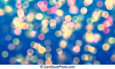 Abstract Loopable Background with nice colorful bokeh