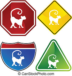 Chinese Zodiac Sign Icon - Chinese zodiac sign animal...
