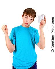 servicio, papel, Adolescente