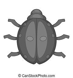 Ladybug icon, cartoon style - Ladybug icon. Cartoon...