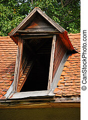 Entrance to the attic - Look at the entrance to the attic of...