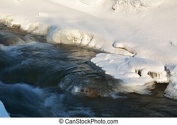 ice on river