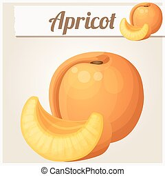 Apricot. Cartoon vector icon - Apricot. Cartoon vector icon....