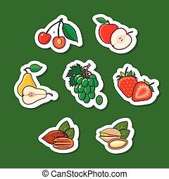 Conjunto, frutas