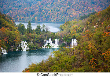 Aerial view in Plitvice National Park