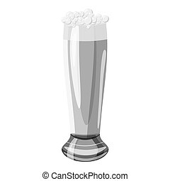 Glass of beer icon, gray monochrome style - Glass of beer...