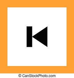 previous button vector icon