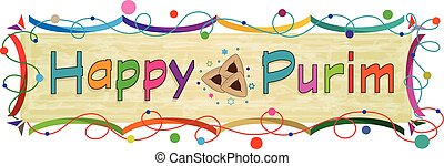 Purim Colorful Banner - Happy Purim colorful banner. Eps10