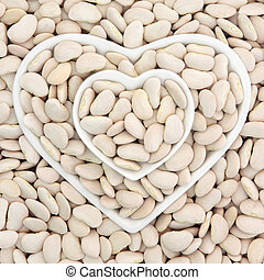 Lima Beans - Lima bean super food in heart shaped bowls...