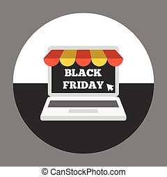 Laptop with awning on black friday