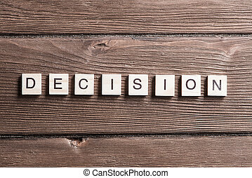 Business decision concept - Business decision word collected...