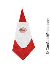 Santa claus serviette - Folded santa claus serviette,...