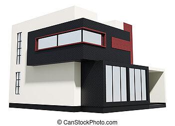 Modern house exterior 3d
