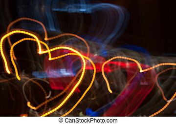 shape of heart - abstract Light Painting - Light Painting...