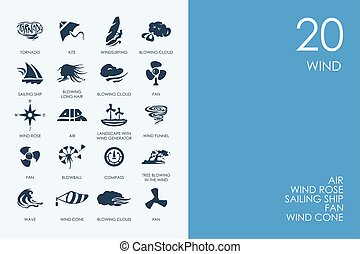 Set of BLUE HAMSTER Library wind icons - BLUE HAMSTER...