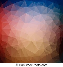 Awesome triangle illustration in vector graphics. - Awesome...