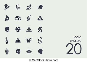 Set of epidemic icons