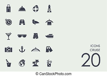 Set of cruise icons