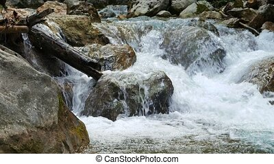 River in the stones. Grand Canyon of Crimea. Mountain...