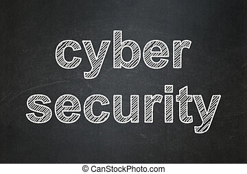 Safety concept: Cyber Security on chalkboard background -...