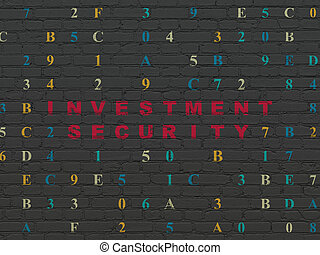 Protection concept: Investment Security on wall background -...