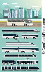 Public Transport Orthogonal Concept - Public transport...