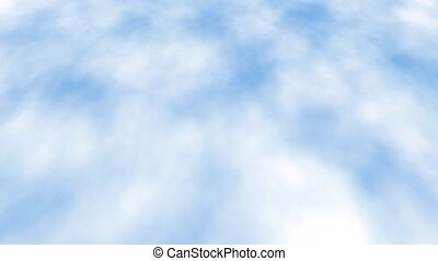 motion of blue sky backrounds. fly above the clouds