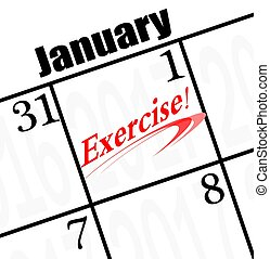 2017 new year resolution is to exercise! - 2017 exercise...
