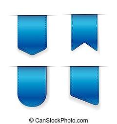 Vector Blue Ribbon set