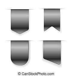 Vector Grey Ribbon set