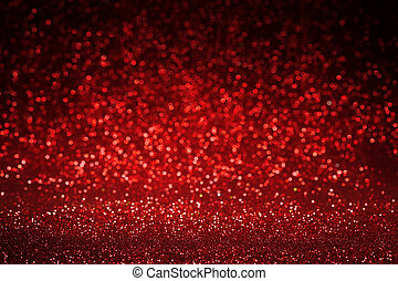 Sparkling red lights abstract background