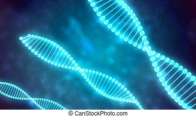 Abstract Loopable Background with rotating DNA
