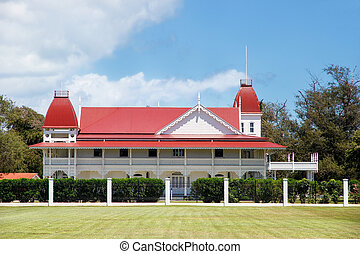 Royal Palace in Nuku'alofa on Tongatapu island, Tonga. Royal...
