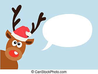 red nose - vector red nose deer
