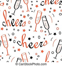 Background with Cheers lettering