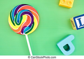 Candy Swirl Lollypop - A studio photo of a candy swirl...