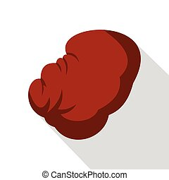 Spleen icon, flat style - Spleen icon. Flat illustration of...