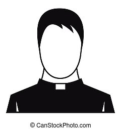 Priest icon, simple style - Priest icon. Simple illustration...