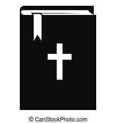 Bible icon, simple style - Bible icon. Simple illustration...