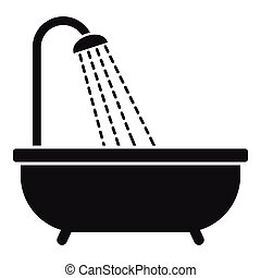 Shower icon, simple style - Shower icon. Simple illustration...