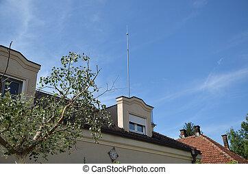 Lightning Rod on Roof