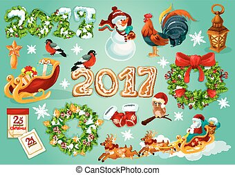Christmas and New Year celebration poster - Christmas and...