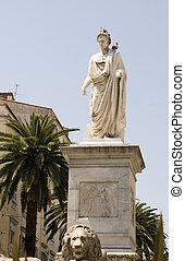 statue napoleon bonaparte ajaccio corsica france - statue...