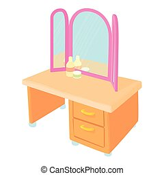 Pier glass icon, cartoon style - Pier glass icon. Cartoon...