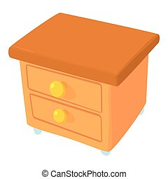 Commode icon, cartoon style - Commode icon. Cartoon...