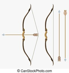 Bow and arrow, vector