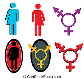 transgender icon set - A collection of transgender icons and...