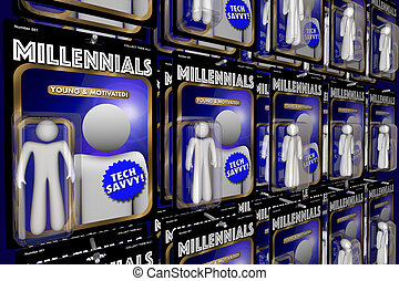 Millennials New Generation Youth Action Figures 3d...