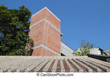 red brick Built Structure at hong kong